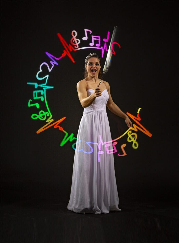 Comedy LED Show, Quick-Change Costume