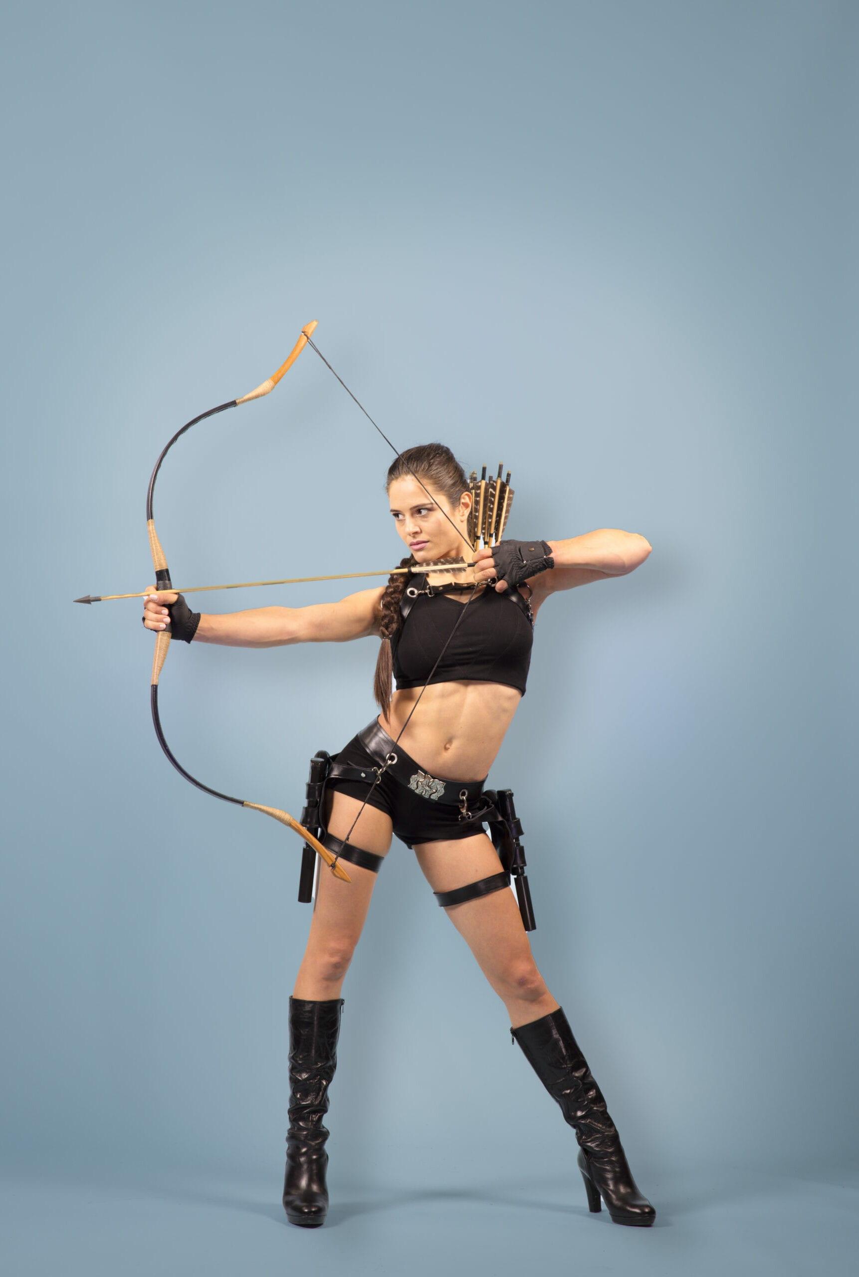 Tomb Raider Strapaten Nummer! Super Helden Luft Akrobatik für Event, Varieté, Zirkus
