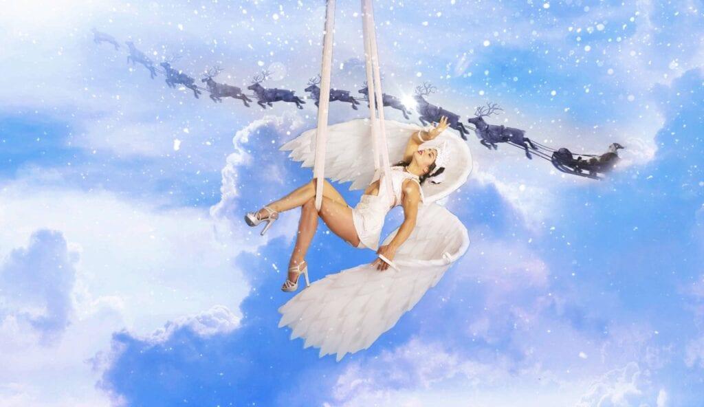 Luft, Akrobatik, Weihnacht, Engel, show, act, performance