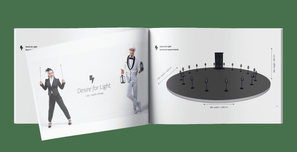 Künstler Broschüre Mock up