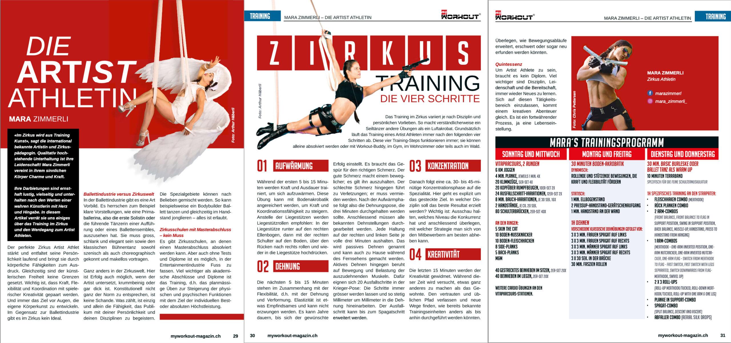 Workout Magazin, Mara Zimmerli, online Artikel